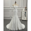 Discount Trumpet Sweetheart Long Length Appliques Beaded Wedding Dresses