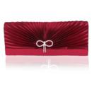 Silk Pleated Wedding Party Evening Handbags/ Purses/ Clutches