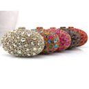 Crystal embellished Jewel Egg Shape Evening Party Handbags/ Purses/ Clutches