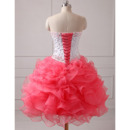 Gorgeous Crystal Beading Ball Gown Prom/ Quinceanera Dress with Detachable Ruffled Tiered Skirts