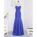 Gorgeous Crystal Beading Neckline Mermaid Sweetheart Floor Length Lace Prom/ Formal Dresses