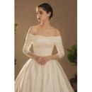 Court Train Satin Wedding Dresses