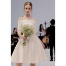 Knee Length Reception Wedding Dresses, Simple Satin Reception Wedding Dresses, Half Sleeves Reception Wedding Dresses, Off-the-s