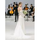 Fashionable Sexy Spaghetti Straps Long Satin Chiffon Wedding Dress with Long Sleeves
