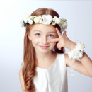 Flower Girl Floral Hairband Headband Crown for Party/ Wedding