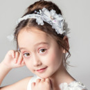 Beautiful Rhinestone Flower Girl Tiara