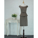 Discount Two-piece Knee Length Satin Mother Dresses with Cap Sleeves