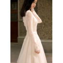 Long Illusion Sleeves Wedding Dresses
