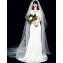 Simple A-Line Double V-Neck Satin Wedding Dresses with Slimming Ruching Across Waist