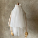2 Layers Mid-Length Tulle with Bow Wedding Veils