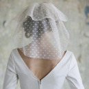 Beautiful 2 Layers Short Tulle with Dot Ivory Wedding Veils