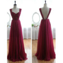 Pleated Bust And Skirt Evening Dresses