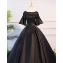 Short Sleeves Evening Dresses