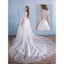 Dramatic Illusion Back Wedding Dresses
