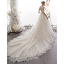 Beaded Appliques Tulle Wedding Gowns