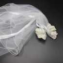 Lovely Bow Crystal Detailing Holy Communion Flower Girl Tiara Headpiece with Comb Veil