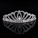 Classy Sparkling Crystals Silver First Communion Flower Girl Tiara/ Wedding Headpiece