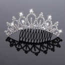 New Design Crystals Silver First Communion Flower Girl Tiara Comb