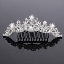 Beautiful New Design Crystals Silver First Communion Flower Girl Tiara Comb
