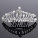 Princess Sparkling Crystals Silver First Communion Flower Girl Tiara Comb