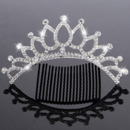 Stylish Sparkling Crystals Silver First Communion Flower Girl Tiara Comb