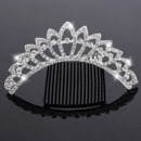 Stylish New Design Crystals Silver First Communion Flower Girl Tiara Comb