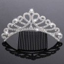 Pretty Princess Crystals Silver First Communion Flower Girl Tiara Comb
