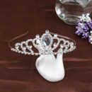 Princess Crystal Rhinestones Silver First Communion Flower Girl Tiara/ Wedding Headpiece