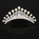 New Design Delicate Crystal Pearl First Communion Flower Girl Tiara Comb