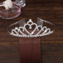 Sparkling Crystal Heart-inspired First Communion Flower Girl Tiara Comb