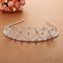 lovely Crystal Heart-inspired Silver First Communion Flower Girl Tiara/ Wedding Headpiece