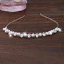 Beautiful Crystal Pearl Silver First Communion Flower Girl Tiara/ Wedding Headpiece