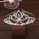 Graceful Sparkly Crystal Lotus-inspired Silver First Communion Flower Girl Tiara/ Wedding Headpiece
