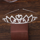 Delicate Sparkly Crystal Silver First Communion Flower Girl Tiara/ Wedding Headpiece