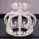 Luxurious Pearl and Crystal First Communion Flower Girl Tiara/ Wedding Headpiece/ Princess Crown