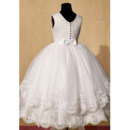 First Communion Dresses With Appliques