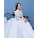 Appliques Bodice Satin Wedding Dresses