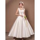 Simple Satin Reception Wedding Dresses