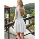 Lace Knee Length Wedding Dresses
