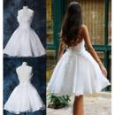 Beaded Appliques Reception Wedding Dresses