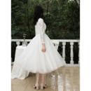Lace Bodice Short Wedding Dresses
