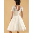 Knee Length Reception Wedding Dresses