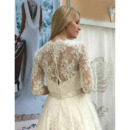 Half Sleeves Reception Wedding Dresses
