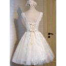 Appliques Tulle Reception Wedding Dresses