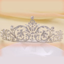 Romantic Alloy With Floral Crystal Embellished Bridal Tiara