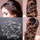Delicate Crystal Bridal Tiara/ Pearl Bride Wedding Headpieces/ Hair Jewelry/ Wedding Hair Vine