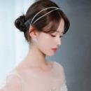 Classic Alloy With Crystal Double Headband Bridal Wedding Tiara